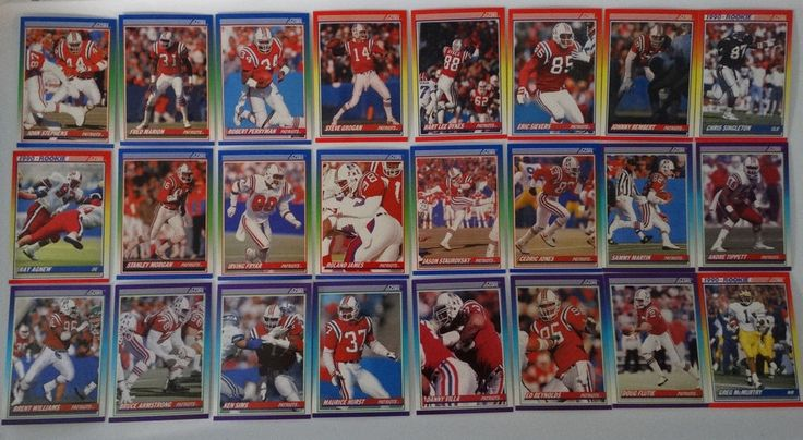 1990 Score New England Patriots Team Set of 24 Football Cards #NewEnglandPatriots