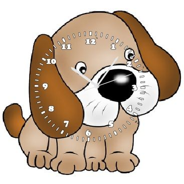 cute puppy wall clock baby gifts for birth day