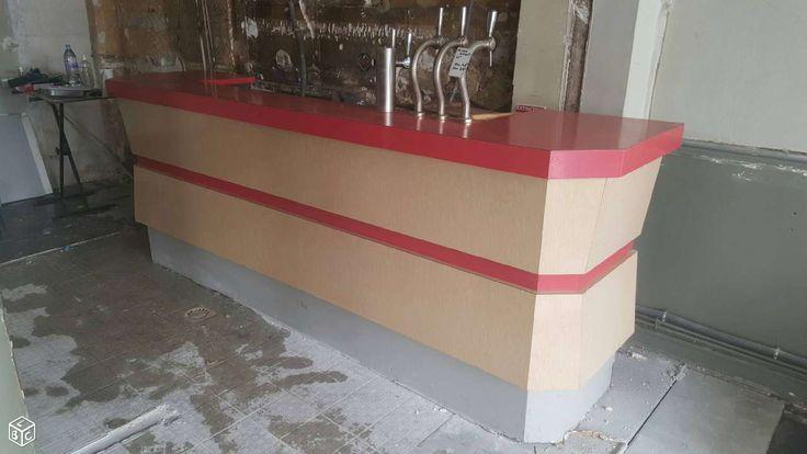 Comptoir en formica des années 60 avec arrière-bar Restauration - Hôtellerie Val-de-Marne - leboncoin.fr