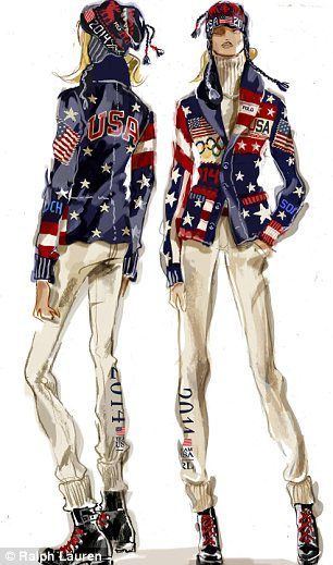 Ralph Lauren unveils Team USA uniforms for Sochi Olympics opening ceremony   Daily Mail Online