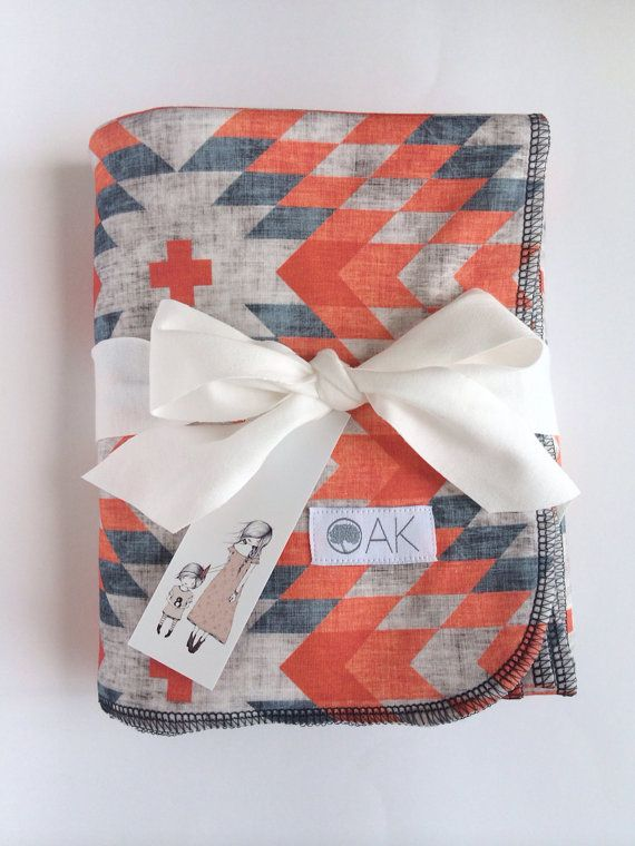 Organic Southwest Infant/ Toddler Blankie in Coral on Etsy, $53.62 CAD