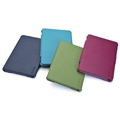 Custodia a libro dedicata per iPad Mini in ecopelle di alta qualità con funzione stand regolabile in due posizioni.
