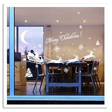 zooyoo® søde farverige pvc aftagelig jul carrige billede af wall stickers varme sælge Vægoverføringsbilleder til hjemmet indretning 2015 – €60.00