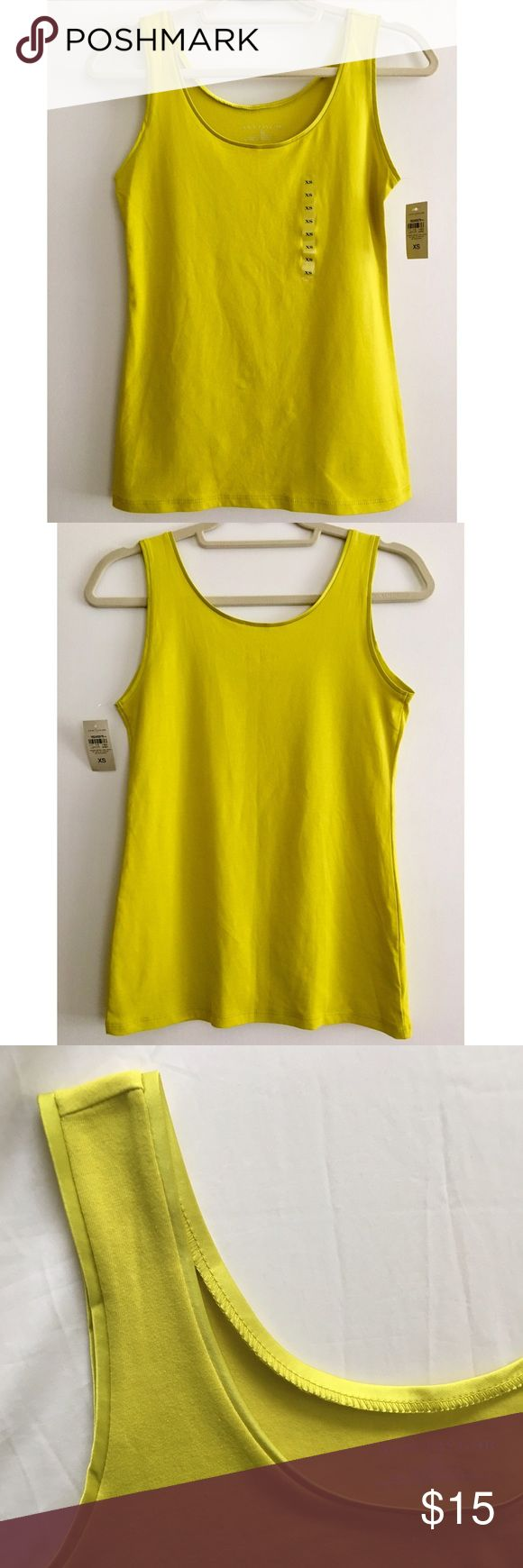 Brand New! Ann Taylor Bright Yellow Tank Brand New Ann Taylor Bright Yellow Tank Top. Tags attached. Polyester trim at neckline and arm holes. Ann Taylor Tops Tank Tops