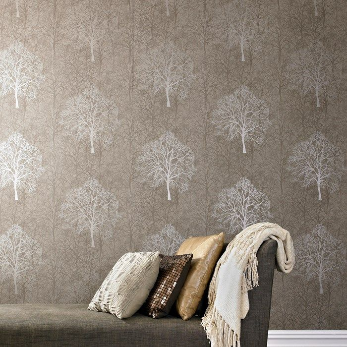 Enchant Golden Brown Wallpaper by Graham and Brown