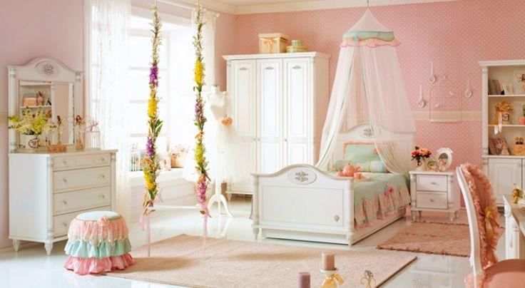 Habitaciones románticas para niñas