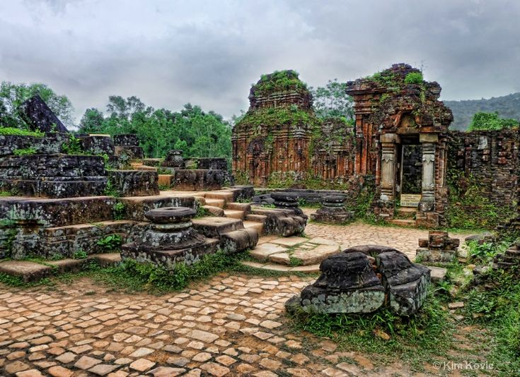 13th Century Temple Ruins - My Son - Vietnam by Kim Andelkovic
