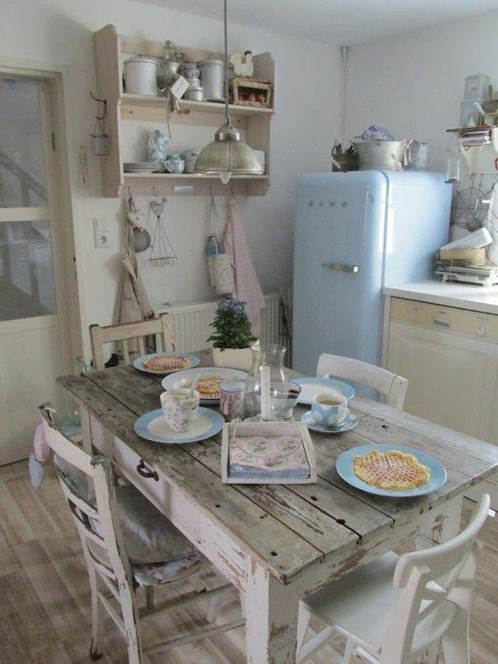 Esstisch Und Stuhle In Vintage Stil Shabby Chic Selber Machen Haus Kuchen Shabby Chic Kuche