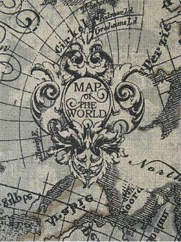 254 best maps compass images on pinterest world maps bedroom old world global nautical map fabric up the roll repeat gumiabroncs Image collections