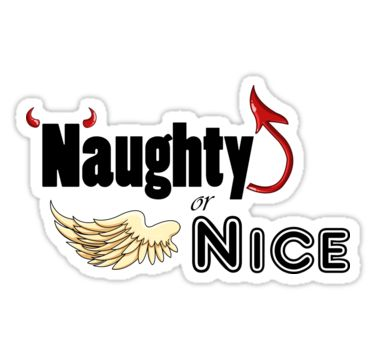 'Naughty or Nice' Stickers by AnMGoug on Redbubble. #Christmas #sticker #naughty #nice