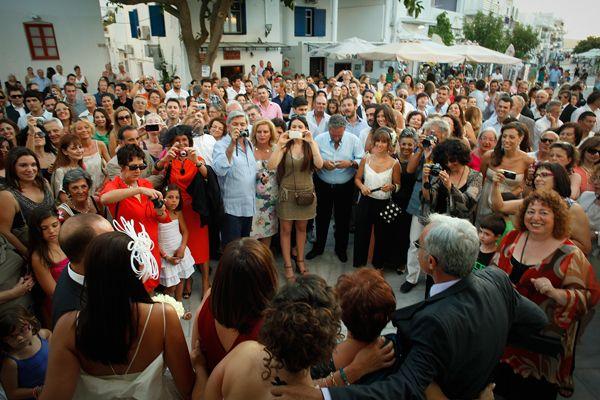 Right after he kissed his bride... #greekisles #destinationweddingsingreece See more http://www.love4weddings.gr/