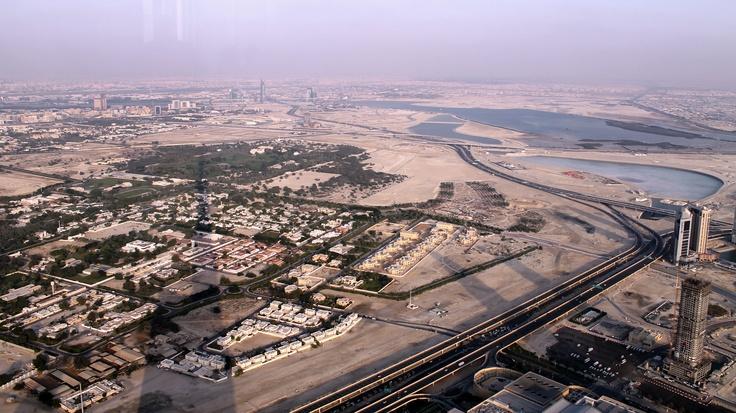 The Burj casts a big shadow