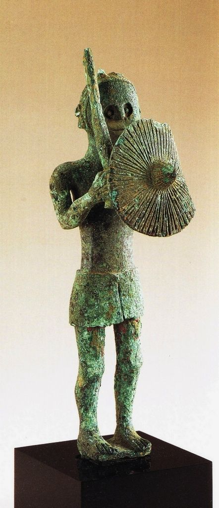 Sardinian bronze warrior C.700BC