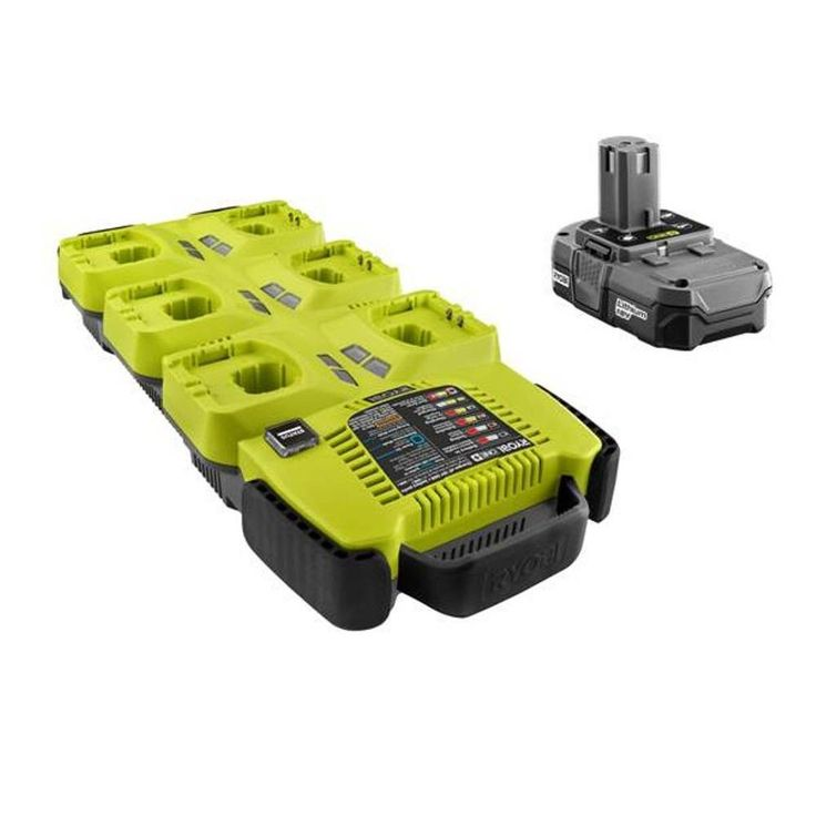 Ryobi One+ Super Charger with Lithium-Ion Compact Battery