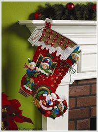 Bucilla ® Seasonal - Felt - Stocking Kits - Holiday Decorating