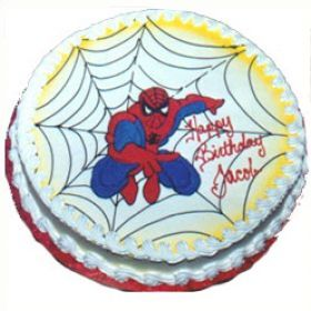 Imagine the Excitement and Happiness on Your Son's Face When He sees our Exclusive Spider man Cake. Spider Man is the Favorite SuperHero of Many Boys and Your Son Will Be Thrilled to See Spider Man Wishing Him Happy Birthday on the Cake. Make Your Son's Birthday the Talk of the Town with this Delicious Cake. Our Spider Man Cake Will Add Lots of Joy to Your Son's Birthday. Send Cake Online and Surprise Your Child with this Lovely Cake Through our Shop2Vijayawada.