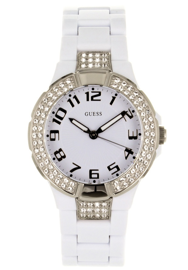 Price:$110.69 #watches Guess W11611L1, Plastic case, Plastic bracelet, White dial, Quartz movement, Scratch-resistant mineral, Water resistant 5 ATM - 50 meters - 165 feet