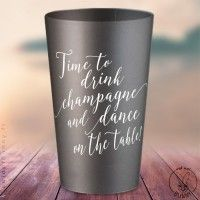 gobelets personnaliss time to drink champagne argents coloris dimpression blanc - Gobelet Personnalis Mariage