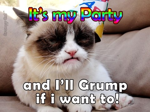 It's my party...