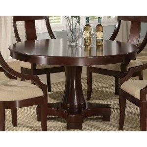 arlington round sienna pedestal dining room table w chestnut finish. pedestal round dining table with curved feet deep cherry finish arlington sienna room w chestnut