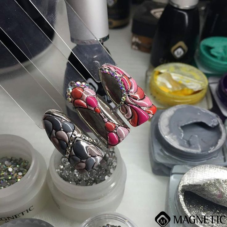 One Coat Color Gel, Magnetic Nails, Maga Nails, Albina Maria, Nail Art, 3D