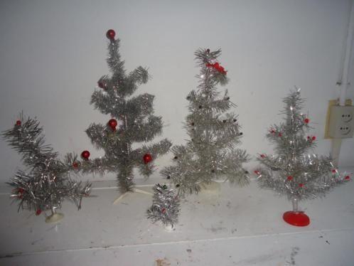 vintage zilveren kerstboompjes
