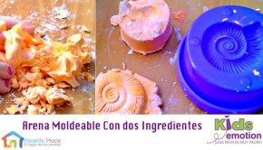 arena moldeable con 2 ingredientes