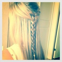 : Hair Ideas, French Braids, Hair Beautiful, Hairstyles Tips, Beautiful Braids, Down Hairstyles, Black Hair, Hair Style, Beautiful Tips