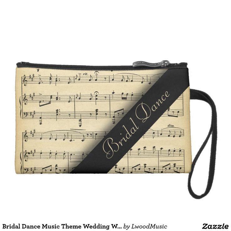 bridal dance music theme wedding wristlet