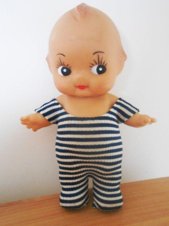 Vintage Kuddly Kewpie Doll 1968 Cameo Dolls ORIGINAL CLOTHES .
