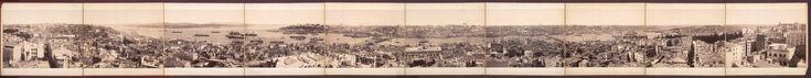 1890s Galata_Kulesi_'nden_panorama ガラタ塔の展望台から望むイスタンブル市街の風景。1890年のオスマン帝国末期の写真