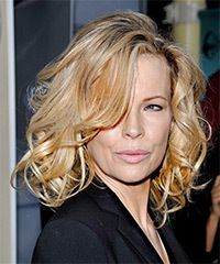 Kim Basinger Hairstyle - Formal Medium Wavy