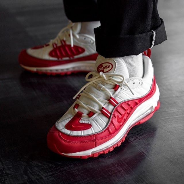 2002ca15 The NIKE AIR MAX 98 UNIVERSITY RED are scheduled for release this FRIDAY  JANUARY 25... - Hit the link in our bio to enter available RAFFLES and for  stockist ...