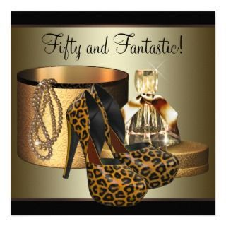 gold 50th birthday party invitations this elegant gold leopard high
