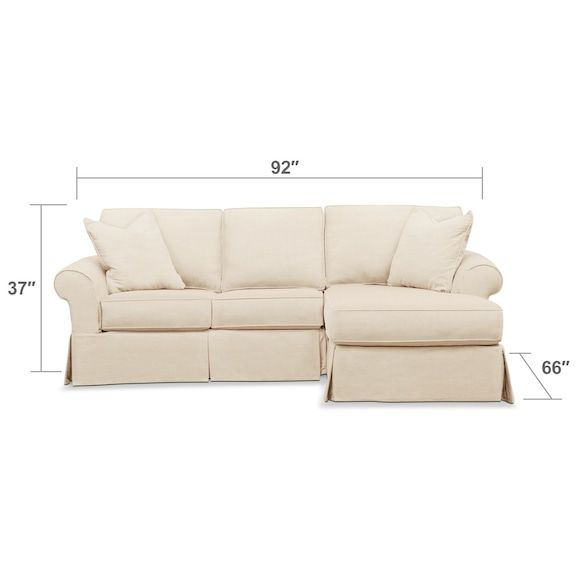 Super Sawyer 2 Piece Slipcover Sectional With Loveseat And Chaise Spiritservingveterans Wood Chair Design Ideas Spiritservingveteransorg
