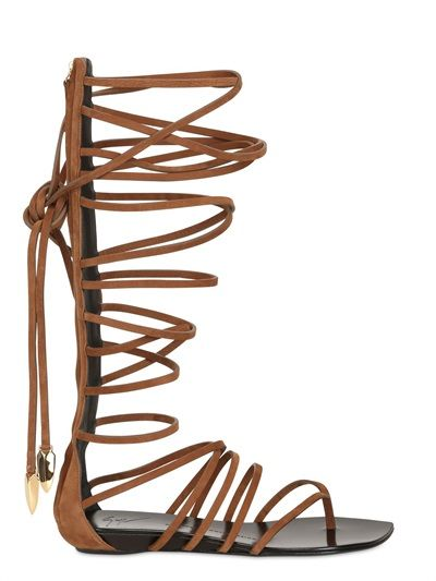 GIUSEPPE ZANOTTI - LEATHER GLADIATOR SANDALS. Would love a pair of these to add to my shoe collection