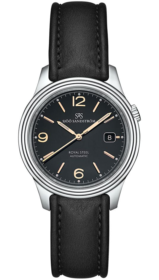 Royal Steel Classic 41 mm, black rose gold dial with black calf. #sjöösandström #sjoosandstrom #watch #watches #sweden #classic