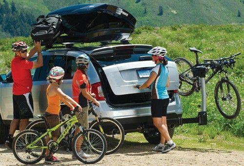 """Thule Apex Swing 4 Bike Rack for 2"""" Hitches - Swinging Thule Hitch Bike Racks TH9027"""