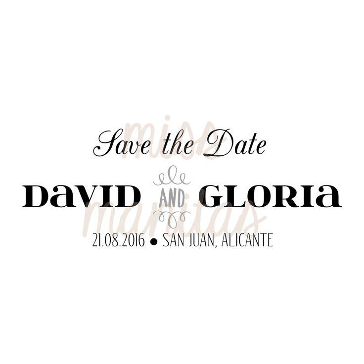 Sello Save the Date Modelo Gloria para Bodas