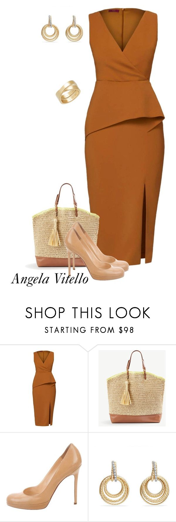 """""""Untitled #1005"""" by angela-vitello on Polyvore featuring WtR, Ann Taylor, Christian Louboutin, David Yurman and Cartier"""