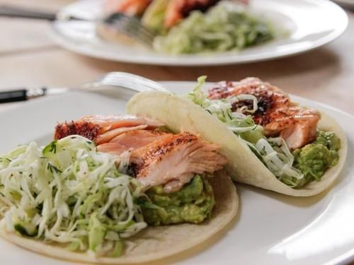 """Roasted Salmon Tacos (Cook Like a Pro: Weeknight Dinners) - Ina Garten, """"Barefoot Contessa"""" on the Food Network."""