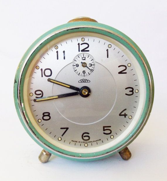Lovely Vintage Alarm clock/Made in Czechoslovakia /PRIM/Alarm clock / Retro alarm clock /Antique/1960s/Mid century  $39.54