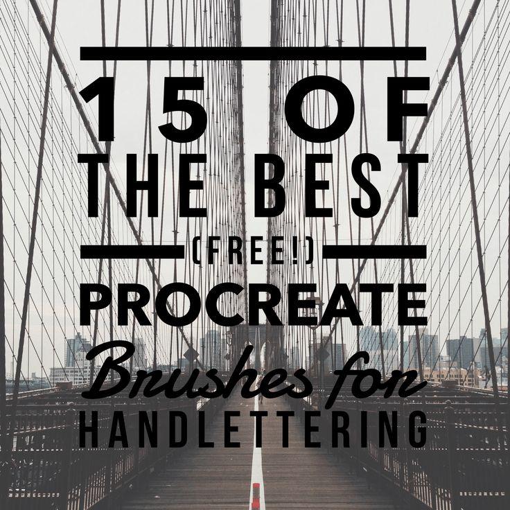 Best free procreate brushes for handlettering digital