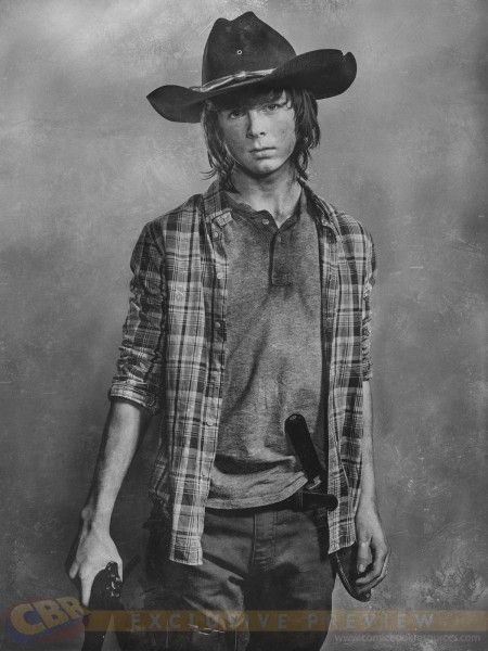 """EXCLUSIVE: First Look At """"The Walking Dead"""" Season 6 Carl Grimes Portrait - Comic Book Resources"""