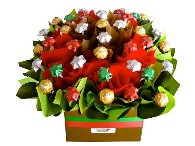 Christmas Tidings Chocolate Bouquet