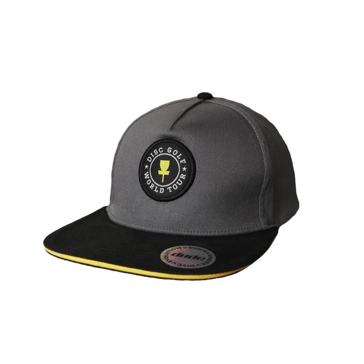 Disc Golf Apparel - World Tour Easy Fit Cap Choose a flat or a curved brim in a range of colours, all embroidered with the World Tour logo. Easy Fit sizing makes choosing size easy, only two choices - either small-medium or large-extra large. And they are made to Dudes exacting high standards, so are sure to last. For more details, visit https://www.dudeclothing.com/collections/accessories/products/dgwt-easy-fit-hat-w-flat-brim?variant=11271256133