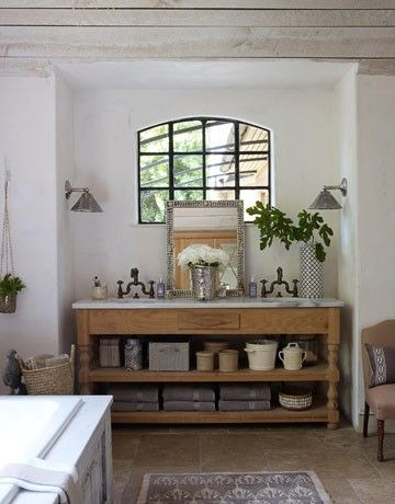 Bathroom ▇ #Vintage #Home #Decor via - Christina Khandan on IrvineHomeBlog - Irvine, California ༺ ℭƘ ༻