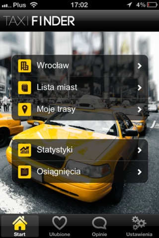 Taxi Finder app - available for iPhone