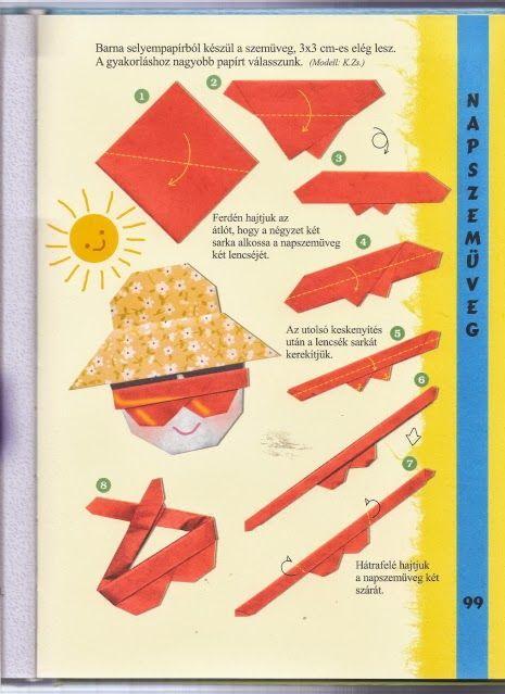 zonnebril vouwen met kleuters