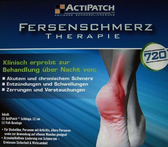 ActiPatch Fersensporn, Fersenschmerzen